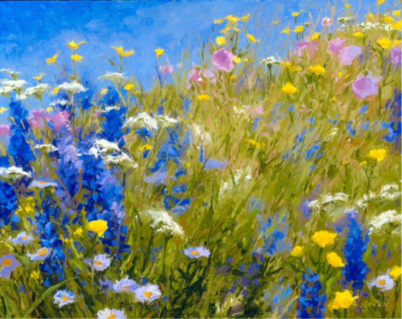 Полевые цветы уроки рисования на