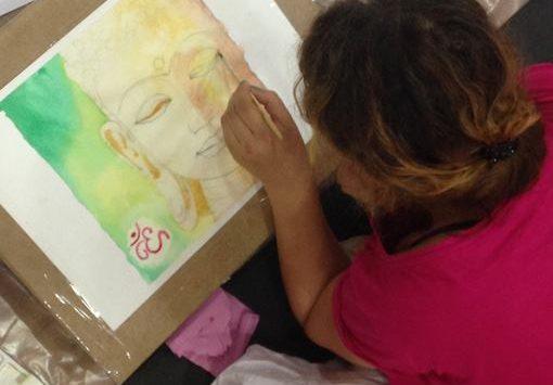 Фотоотчёт с мастер-класса по рисованию Будды :)