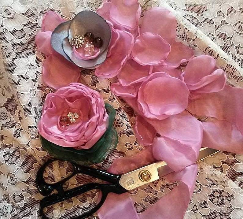 Мастер-класс «Цветы из ткани»!
